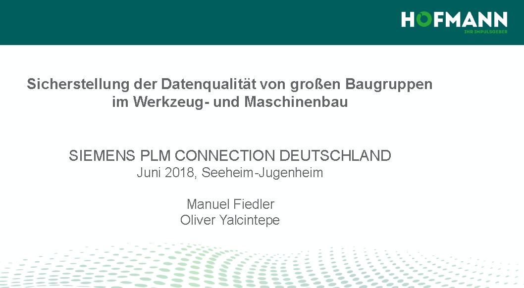 Vortrag: Sicherstellung der Datenqualität von großen Baugruppen im Werkzeug- und Maschinenbau