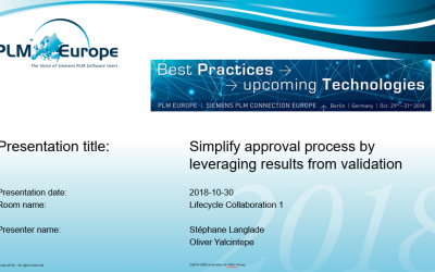 Presentation: Simplify approval processes by leveraging results from validation at an early stage.