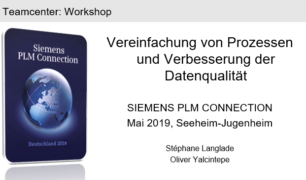 PLM Connection Germany 2019: Simplify processes and improve data quality